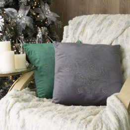 velvet Christmas cushion cover with snowflake
