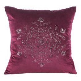 Red velvet Christmas cushion cover