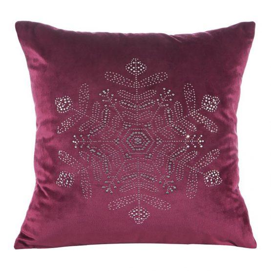 Red velvet Christmas cushion cover