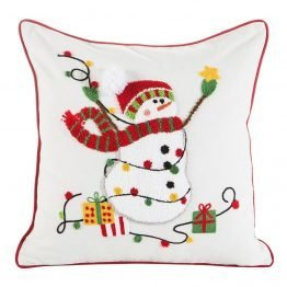 Cushion cover with snowman