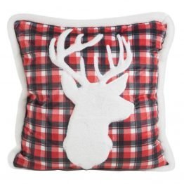 christmas cushion cover with stag