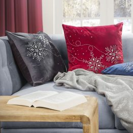 Silver Christmas cushion cover