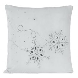 white silver velvet chirstmas cushion cover