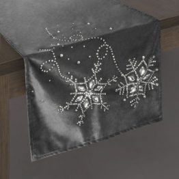 grey christmas table runner