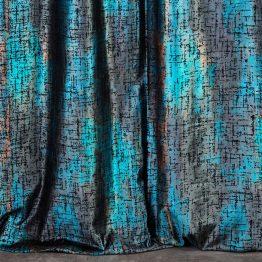 black turquoise velvet curtain