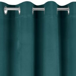dark green velvet curtain