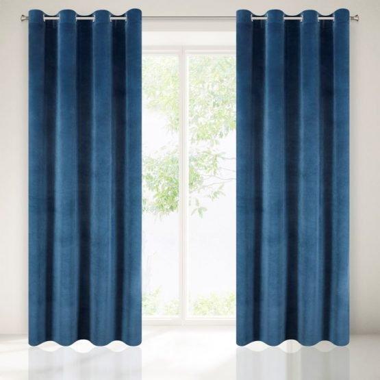 velvet navy curtain