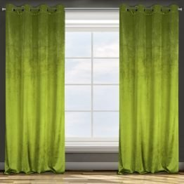 velvet olive green curtains