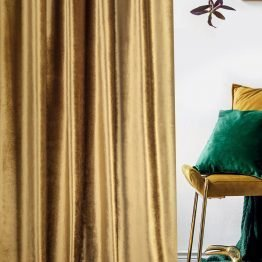 gold velvet curtain