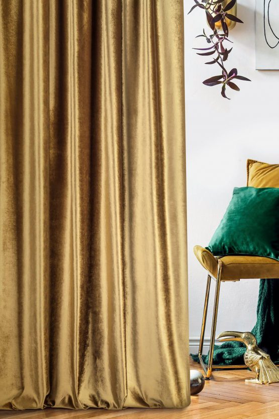 gold velvet curtain
