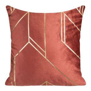 Orange velvet cushion covers