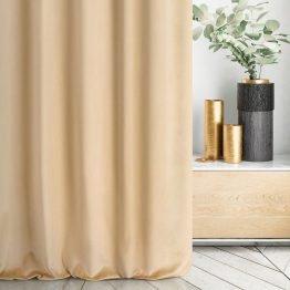 beige velvet curtain