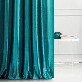 Turquoise velvet curtains