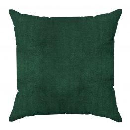 Forest green plain velvet cushion