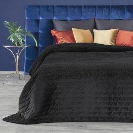 black velvet bedspread with silver thread
