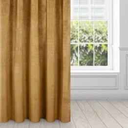 Honey gold velvet curtains
