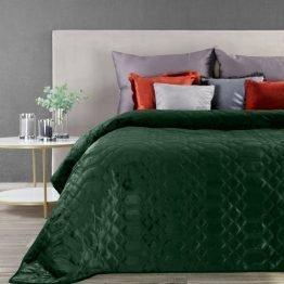 Dark green velvet bedspread 230x260cm