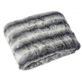 Luxury grey faux fur blanket 150x180cm