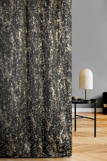 Black and gold luxury curtains