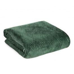 Dark green velvet bedspread
