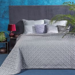 Luxury bedspread grey with sequins and embroidery