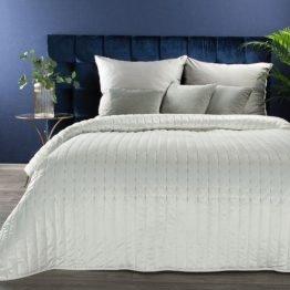 White velvet bed throw