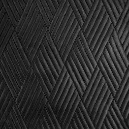 Black velvet quilted throw