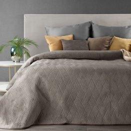 dark beige velvet bedspread
