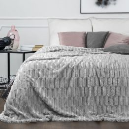 cosy soft silver throw