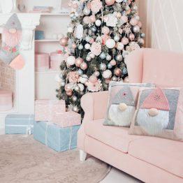 3D Pink Christmas Stocking