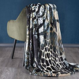 Abstract soft throw blanket 150x200cm