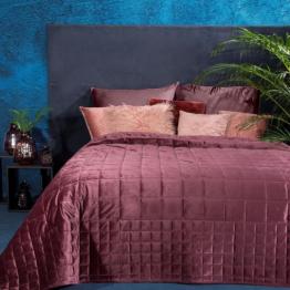 King size blush pink velvet bedspread