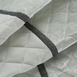 Luxury white velvet bedspread 220x240cm