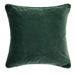 Handmade dark green velvet cushion cover