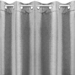 Plain silver velvet curtains
