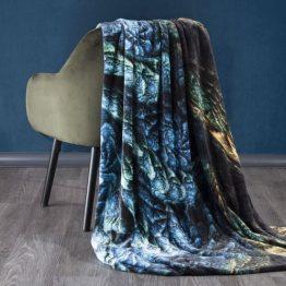 soft black and blue blanket 150x200cm