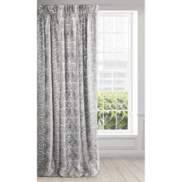 Black and white snake print velvet curtains set with cushion covers