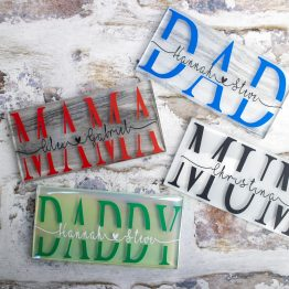personalised glass tile